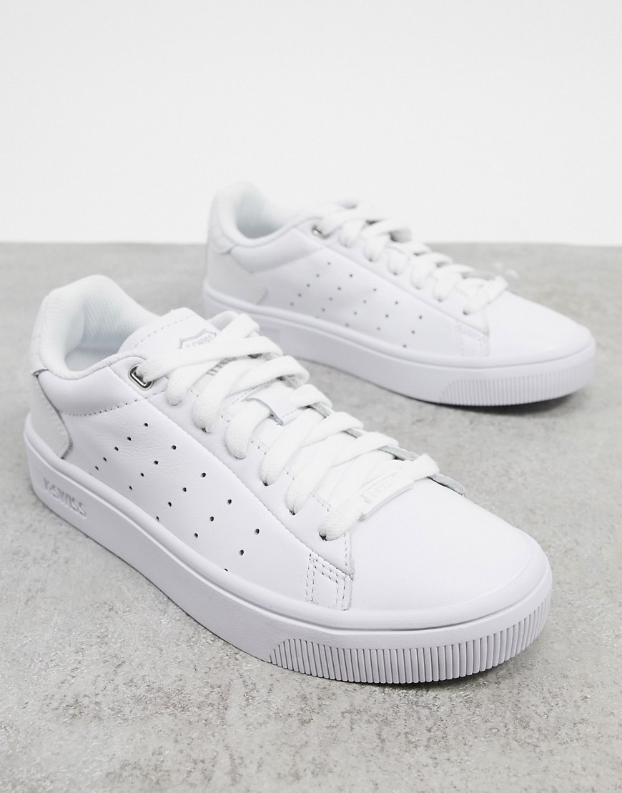 Zapatillas Blancas Court Frasco II de K-Swiss-Blanco